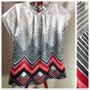 Worthington   chevron print blouse